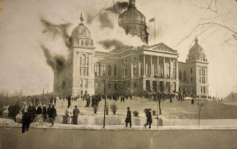 Iowa State Capitol Fire